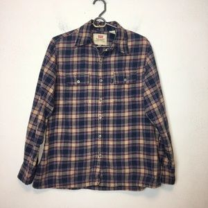 Levis Women's Flannel Plaid Shirt